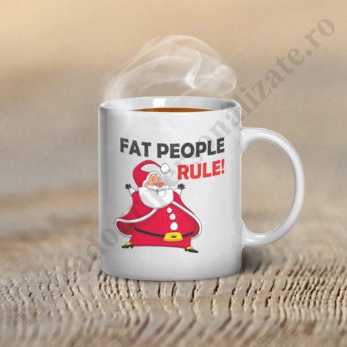 Cani haioase Fat People Rule, cani haioase personalizate, cani haioase, cani personalizate