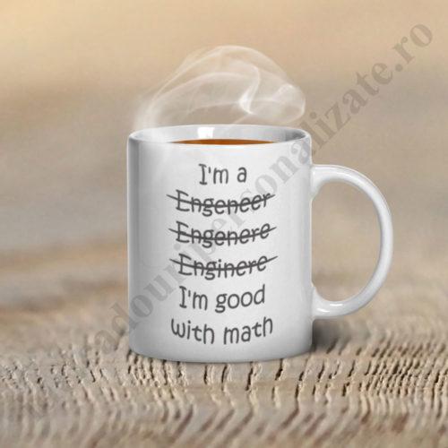 Cani haioase I am good with Math, cani personalizate,cani personalizate pentru ingineri
