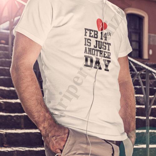 tricouri personalizate pentru iubiti, idei cadouri personalizate, Tricou personalizat 14 Februarie