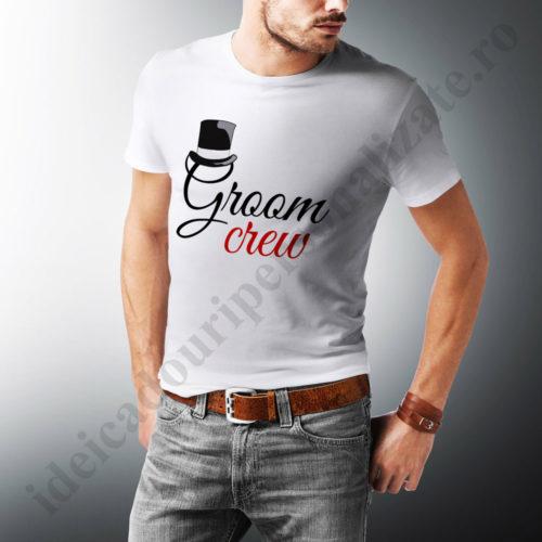 Tricouri personalizate Groom Crew, tricouri personalizate pentru burlaci