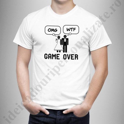 tricouri personalizate pentru indragostiti, idei cadouri personalizate, Tricouri personalizate OMG Game Over