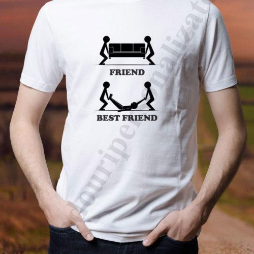 tricou personalizat friend best friend, tricouri personalizate pentru alcoolici, idei cadouri personalizate
