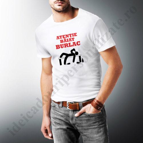 tricouri personalizate atentie baiat burlac, tricouri personalizate burlaci, idei cadouri personalizate