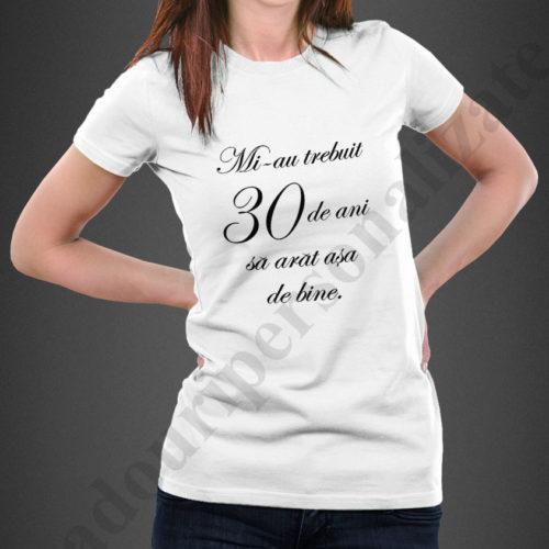 Tricou personalizat cu varsta dama