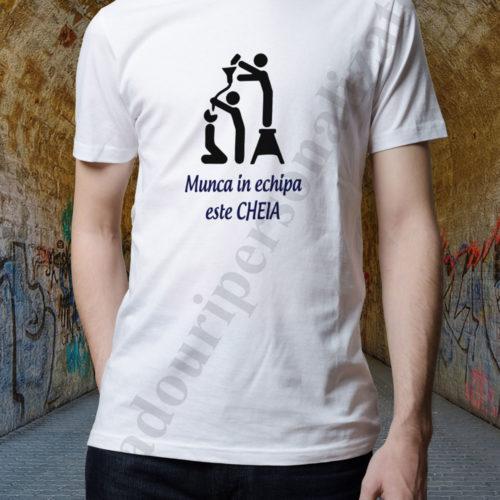 tricouri personalizate munca in echipa alb, tricouri personalizate pentru alcoolici