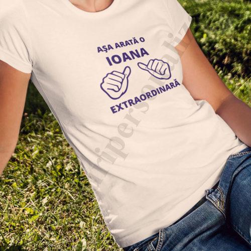 tricouri personalizate pentru onomastica, tricouri personalizate pentru aniversari, idei cadouri personalizate, tricouri pentru ioana
