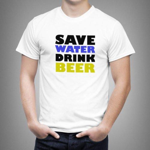 tricouri personalizate betivi, idei cadouri personalizate, tricouri personalizate save water