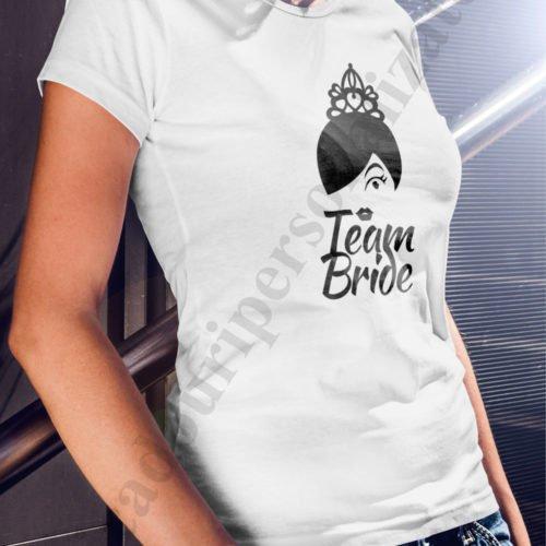 tricouri personalizate burlacite, idei cadouri personalizate, Tricouri personalizate team bride