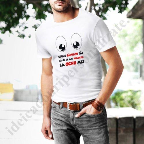 Tricou cu mesaj Spune Sanilor, tricouri cu mesaje sexy, idei cadouri personalizate