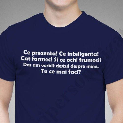 Tricou cu mesaj Ce Prezenta, tricouri cu mesaje funny, idei cadouri personalizate