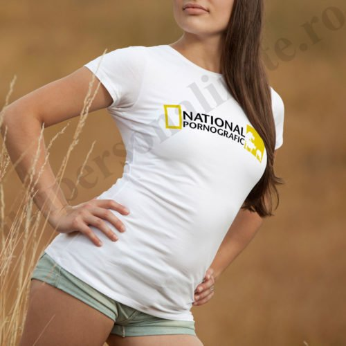 tricouri cu mesaje erotice, idei cadouri personalizate, Tricou cu mesaj National Pornografic