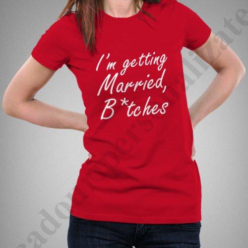 Tricou personalizat Getting Maried, tricouri personalizate burlacite, idei cadouri personalizate