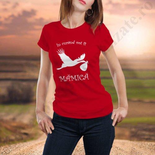 Tricou personalizat Voi fi Mamica, idei cadouri personalizate
