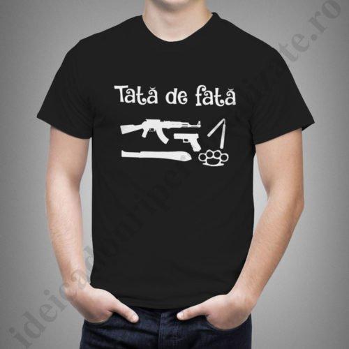 Tricouri cu mesaje Tata de Fata, tricouri personalizate pentru tata, idei cadouri personalizate