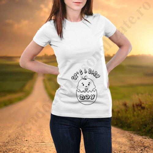 Tricouri inscriptionate Baby Boy, idei cadouri personalizate