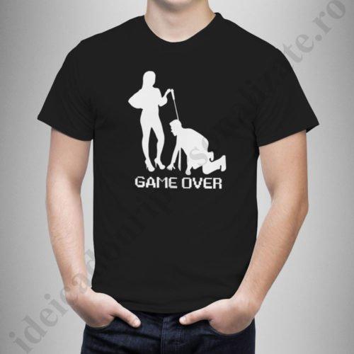 Tricouri personalizate Game Over, tricouri personalizate pentru burlaci, idei cadouri personalizate