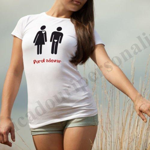 tricouri personalizate de dragoste, idei cadouri personalizate, tricouri personalizate purul adevar