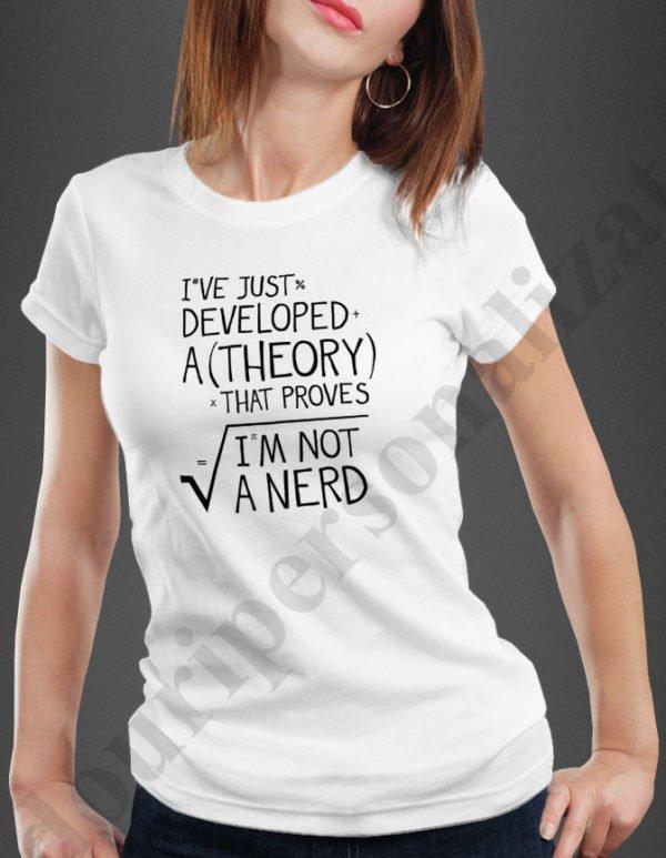 Tricouri inscriptionate Not A Nerd, tricouri amuzante tocilari, idei cadouri personalizate