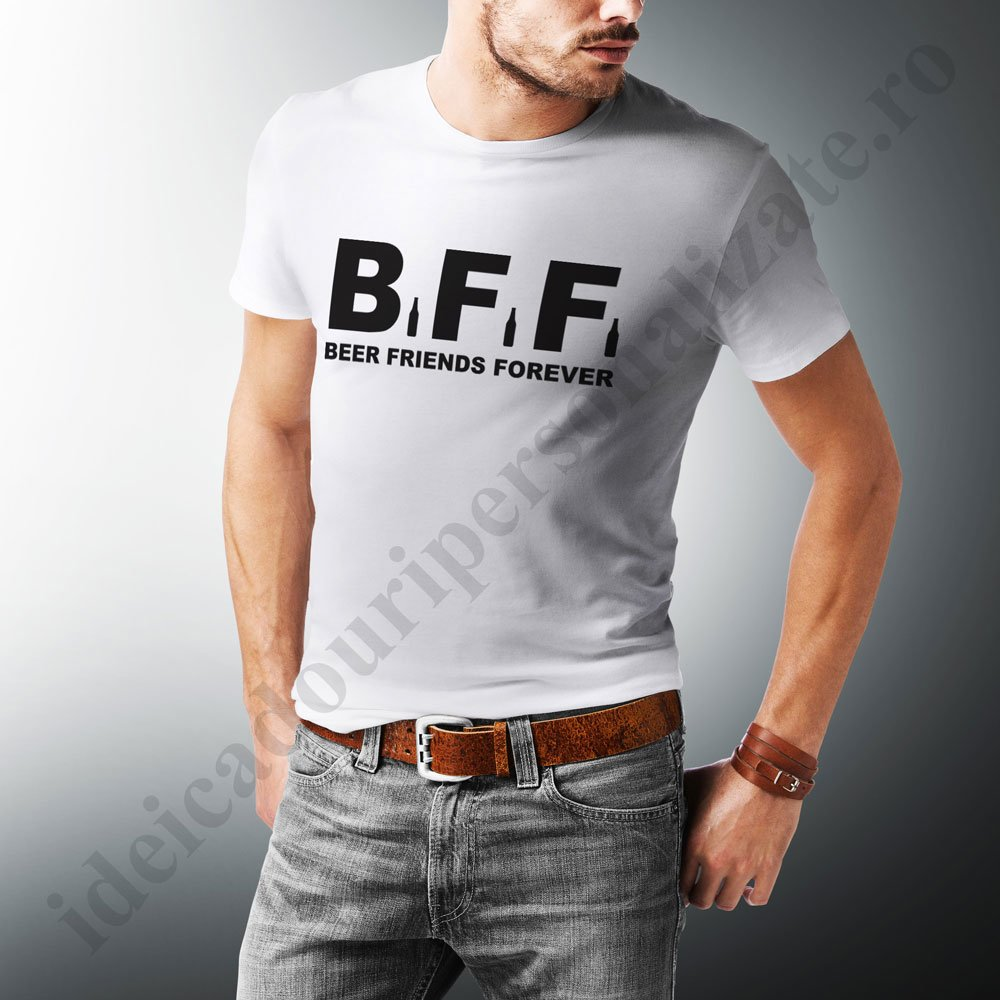 cumpara online preț uimitor preț rezonabil Tricouri BFF Beer Friends - Bumbac 100% - Tricouri pentru prieteni