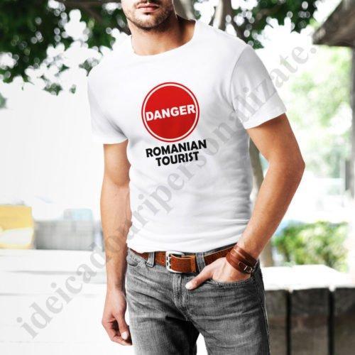 Tricouri personalizate Romanian Tourist, tricouri amuzante pentru vacanta, idei cadouri personalizate