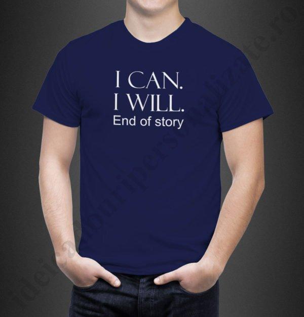 Tricou cu mesaj motivational, tricouri personalizate motivationale, idei cadouri personalizate