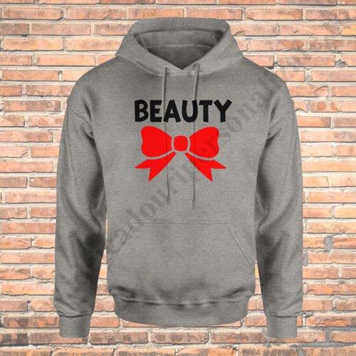 Hanorac barbati Beast, Hanorac dama Beauty, Hanorace cupluri, hanorace barbati, hanorace dama, idei cadouri personalizate
