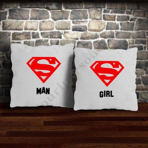 Perne Super Man Girl, perne personalizate, Idei cadouri personalizate