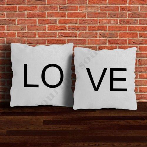 Perne cuplu LOVE, perne personalizate, Idei cadouri personalizate