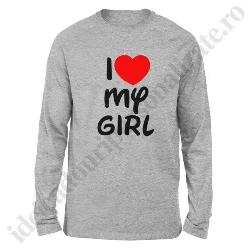 Bluza barbati Love my Girl, Bluza barbati Love my Boy, bluze, bluze cupluri, bluze barbati, bluze dama, idei cadouri personalizate