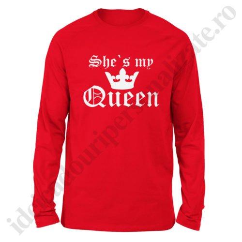 Bluza barbati My Queen, Bluza dama My King, bluze, bluze cupluri, bluze barbati, bluze dama, idei cadouri personalizate
