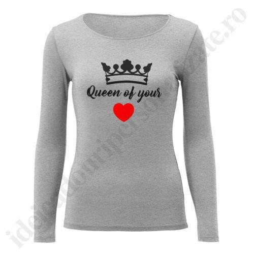 Bluza barbati King of, Bluza dama Queen of, bluze, bluze cupluri, bluze barbati, bluze dama, idei cadouri personalizate