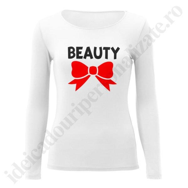 Bluza dama Beauty, bluze cupluri, bluze dama, idei cadouri personalizate