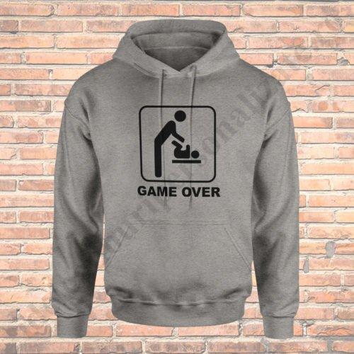 Hanorac Game Over, hanorace tatici, idei cadouri personalizate