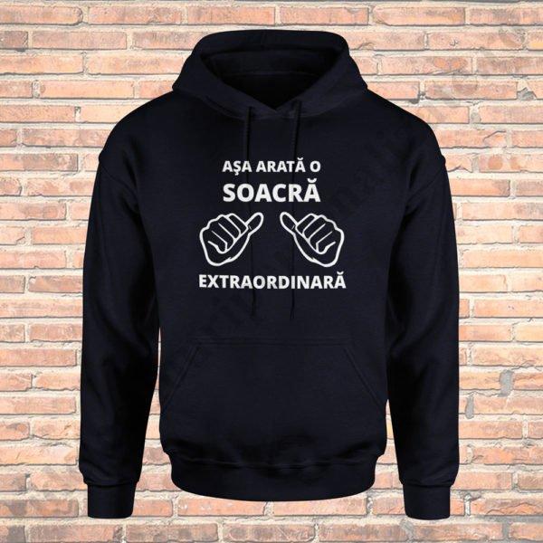 Hanorac Soacra Extraordinara, hanorace aniversare, idei cadouri personalizate