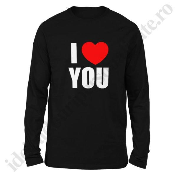 Bluza barbati Love You, bluze cupluri, bluze barbati, idei cadouri personalizate