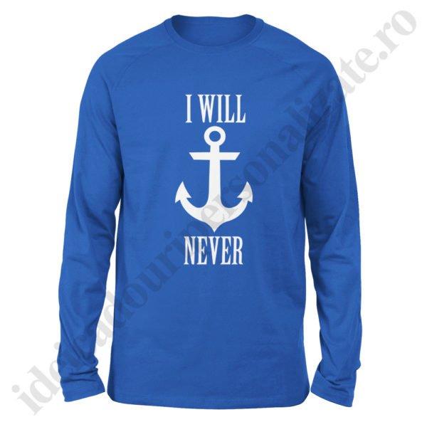 Bluza barbati Never Sink, bluze cupluri, bluze barbati, idei cadouri personalizate