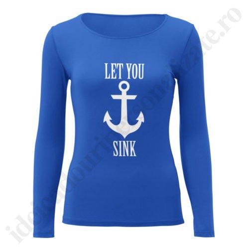 Bluza dama Never Sink, bluze cupluri, bluze dama, idei cadouri personalizate