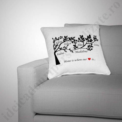 Perna Family Tree, perne personalizate pentru familie, perna familie, perne personalizate