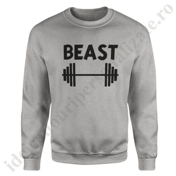 Pulover barbat Beast, pulovere cupluri, sweatshirt barbati, idei cadouri personalizate
