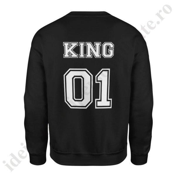 Pulover barbat King 01, pulovere cupluri, sweatshirt barbati, idei cadouri personalizate
