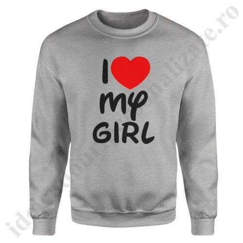 Pulover barbat Love Girl, pulovere cupluri, sweatshirt barbati, idei cadouri personalizate