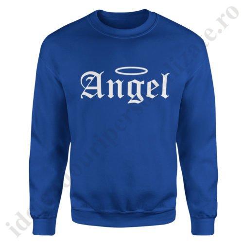 Pulover dama Angel, pulovere cupluri, sweatshirt dame, idei cadouri personalizate