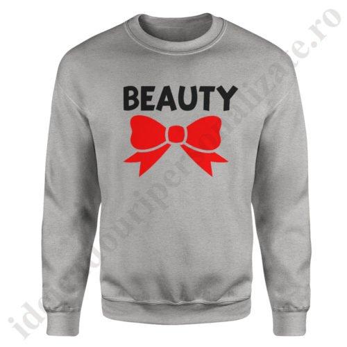 Pulover dama Beauty, pulovere cupluri, sweatshirt dame, idei cadouri personalizate