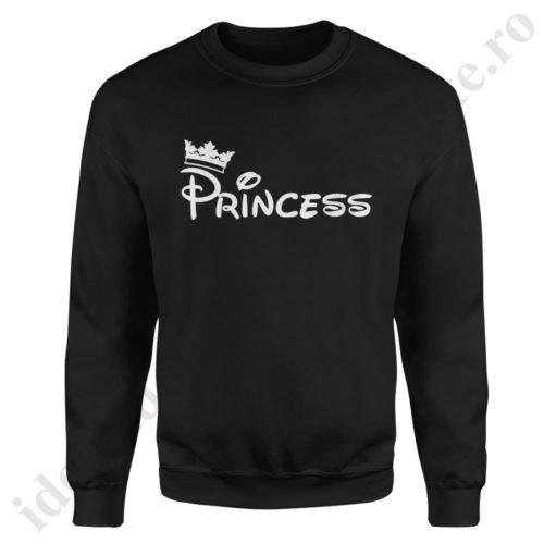 Pulover dama Princess, pulovere cupluri, sweatshirt dame, idei cadouri personalizate
