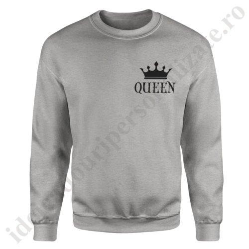 Pulover dama cu Queen, pulovere cupluri, sweatshirt dame, idei cadouri personalizate
