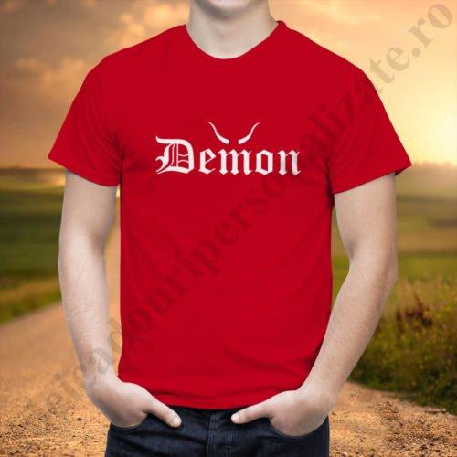 Tricou barbati Demon, tricouri cupluri, tricouri barbati, idei cadouri personalizate