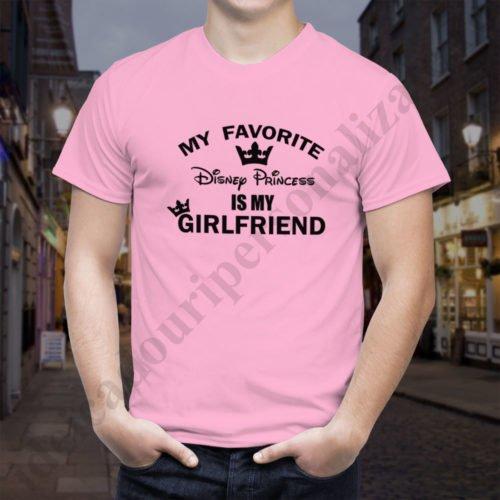 Tricou barbati Disney Girlfriend, tricouri cupluri, tricouri barbati, idei cadouri personalizate