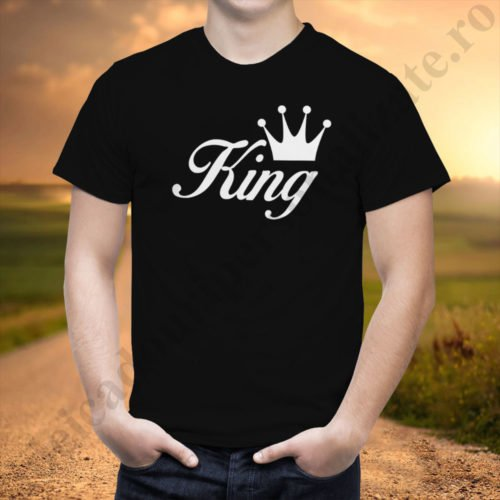 Tricou barbati King, tricouri cupluri, tricouri barbati, idei cadouri personalizate