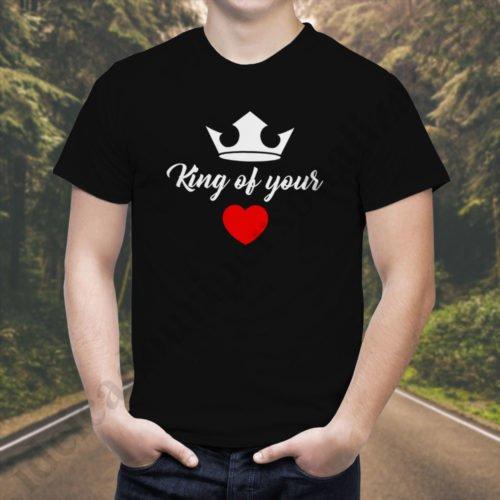 Tricou barbati King of, tricouri cupluri, tricouri barbati, idei cadouri personalizate