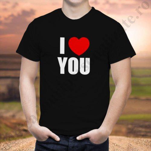 Tricou barbati Love You, tricouri cupluri, tricouri barbati, idei cadouri personalizate